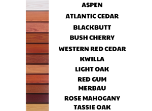 Australian Made Wood Look Slat Colours